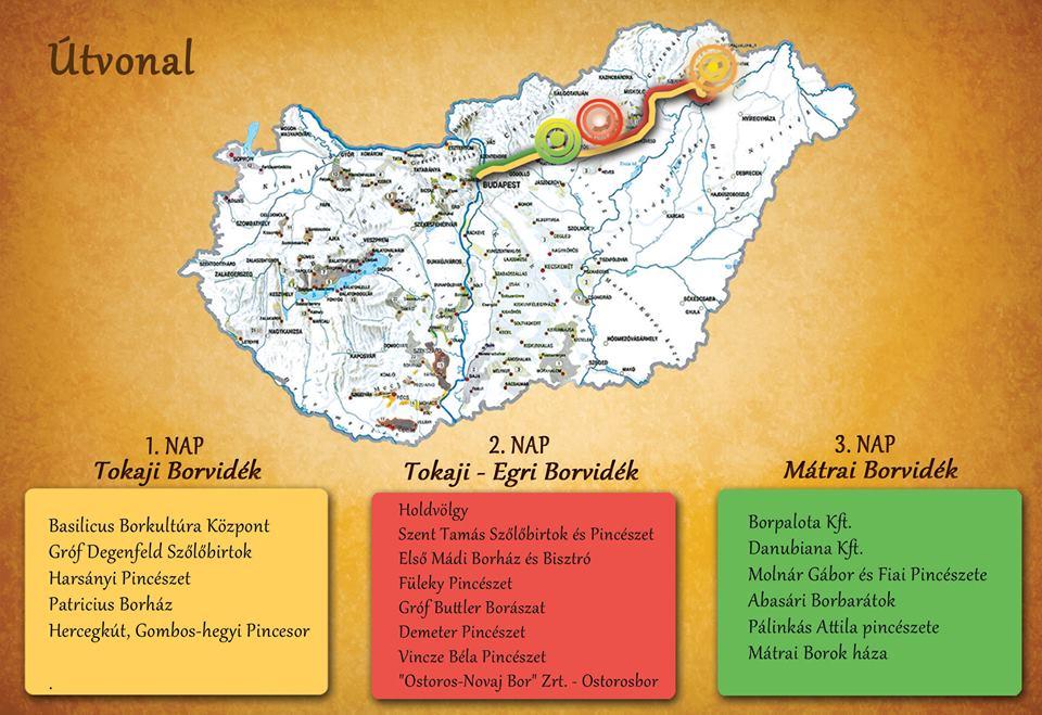 A Basilicus is részt vesz a Magyar Borok Útja Rallye-n